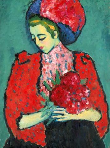Alexej Jawlensky 1909: Mädchen mit Pfingstrosen