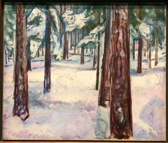 Wald im Schnee, 1912 / Foto: © Nath in Düss